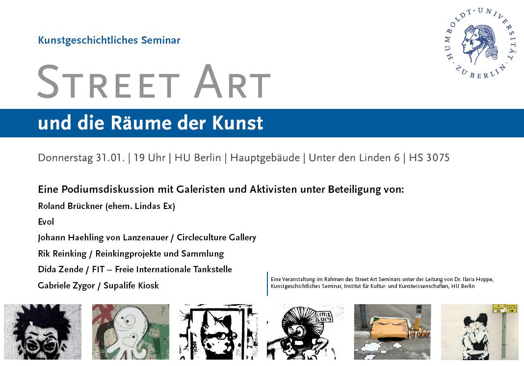 streetart podiumsdiskussion flyer